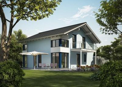 Villa Evolution 143 - balcon et fenêtre d'angle