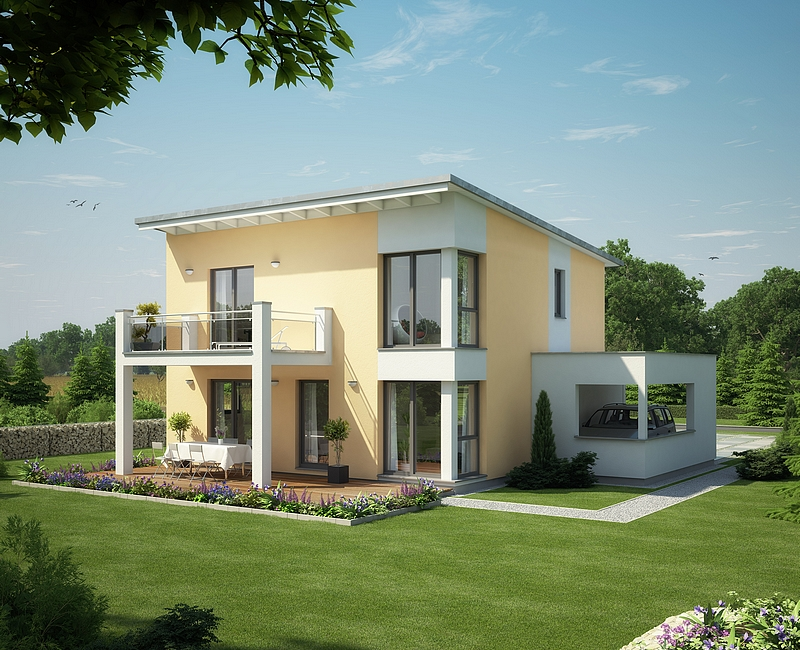 evolution 136 villa 5 5 pi ces en ossature bois mistral. Black Bedroom Furniture Sets. Home Design Ideas