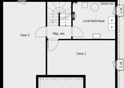 Sous-sol-villa-MC135-mitoyenne-droite