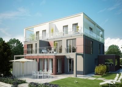 Villa Celebration 135 - toit plat - trois niveaux - oriel - balcons