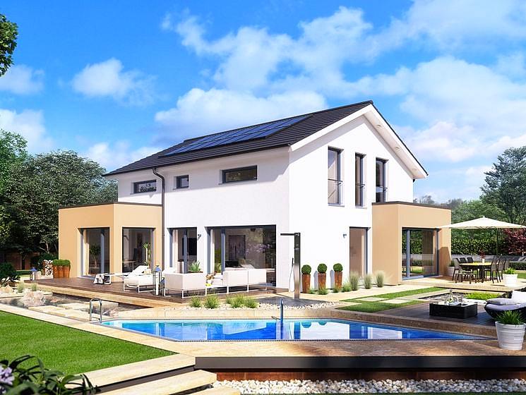 Concept m 155 villa mistral construire en suisse romande for Exterieur villa