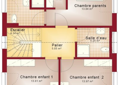 Evolution 139 - etage - suite parentale