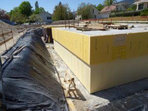 Construction d'un sous-sol dans le district de Nyon