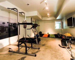 Fitness aménagé au sous-sol